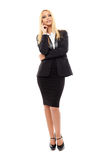 Businesswoman full length Royalty Free Stock Image