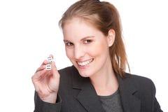 Businesswoman gambling Stock Photography