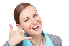 Businesswoman gesture Royalty Free Stock Image
