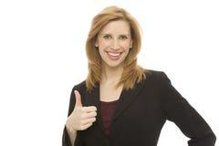 Businesswoman gestures Stock Photography