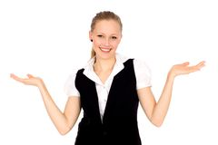 Businesswoman gesturing Stock Photography