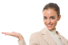 Businesswoman gesturing Stock Photos