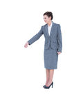 A businesswoman is gesturing Royalty Free Stock Image