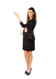 Businesswoman Gesturing in Copyspace Royalty Free Stock Photography