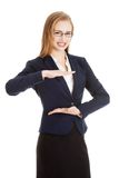 Businesswoman gesturing frame Royalty Free Stock Photography