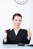 Businesswoman gesturing okay sign. Stock Images