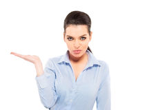 Businesswoman gesturing Stock Images