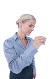 Businesswoman gesturing Royalty Free Stock Image