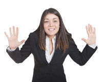 Businesswoman gesturing Stock Photography