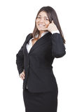 Businesswoman gesturing Stock Image