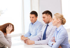 Businesswoman getting fired in office Stock Photos