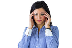 Businesswoman getting a headache Stock Images