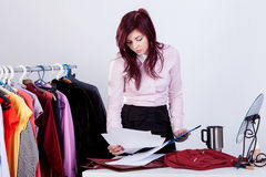 Businesswoman getting ready for a meeting Royalty Free Stock Photography