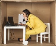 Businesswoman gives advice over the telephone Stock Photos