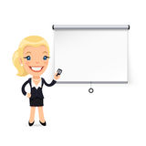 Businesswoman Gives a Presentation or Seminar Royalty Free Stock Photo