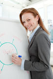 Businesswoman giving a conference Royalty Free Stock Image