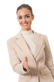 Businesswoman giving hand Royalty Free Stock Photo