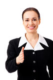 Businesswoman giving hand for handshake Royalty Free Stock Images