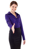 Businesswoman giving hand for handshake Royalty Free Stock Photography