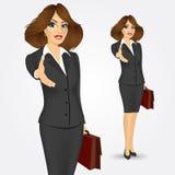 Businesswoman giving hand for handshake Stock Image