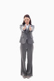Businesswoman giving her agreement Royalty Free Stock Photo