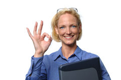 Businesswoman giving the OK si Stock Photography