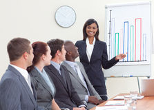 Businesswoman giving a presentation Stock Image