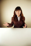 Businesswoman giving presentation Stock Image
