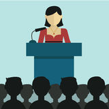 Businesswoman giving a presentation Stock Images