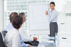 Businesswoman giving presentation in front of her colleagues Royalty Free Stock Image