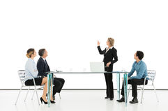 Businesswoman Giving Presentation Royalty Free Stock Photos