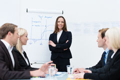 Businesswoman giving a presentation Stock Photos