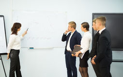 Businesswoman giving a presentation Royalty Free Stock Photo
