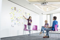 Businesswoman Giving Presentation To Colleagues In Creative Office Space Royalty Free Stock Photos