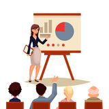 Businesswoman giving presentation using a board Royalty Free Stock Image
