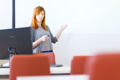 Businesswoman giving a talk. Royalty Free Stock Images