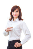 Businesswoman and glass of water Royalty Free Stock Image