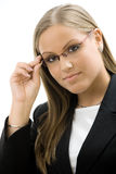 Businesswoman in glasses Stock Image