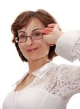 Businesswoman in glasses. Royalty Free Stock Images