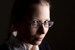 Businesswoman in glasses Royalty Free Stock Photos