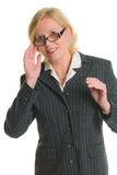 Businesswoman and glasses Royalty Free Stock Photo
