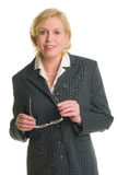 Businesswoman and glasses Royalty Free Stock Photos