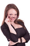 Businesswoman with glasses Stock Images
