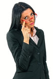 Businesswoman with glasses Stock Photos