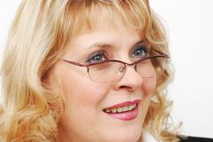 Businesswoman with glasses Royalty Free Stock Images