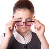 The businesswoman in glasses Royalty Free Stock Photo