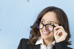 Businesswoman in glasses Royalty Free Stock Image