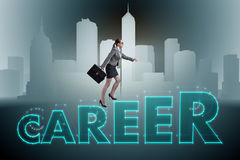 The businesswoman in global employment concept Stock Photography