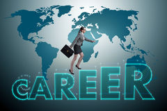 The businesswoman in global employment concept Stock Photo