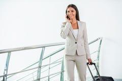 Businesswoman on the go. Stock Photos